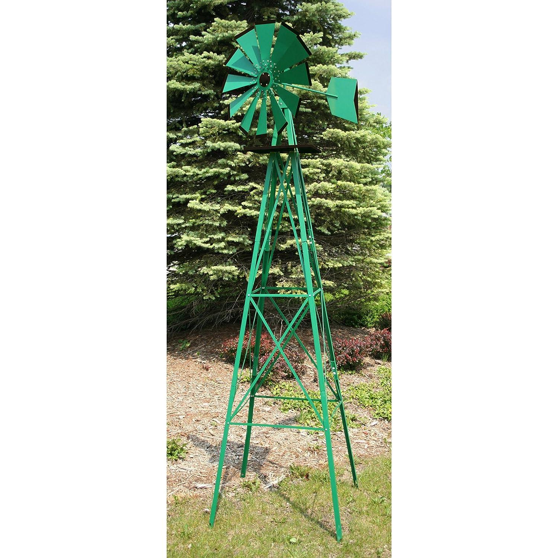 Amazon.com : Sportsman SM07251 8-Feet Windmill : Wind Sculptures ...