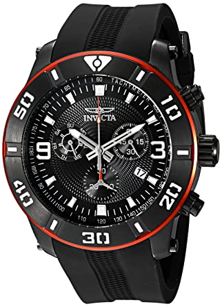 055282331 Amazon.com: Invicta Men's 19825 Pro Diver Analog Display Swiss Quartz Black  Watch: Watches