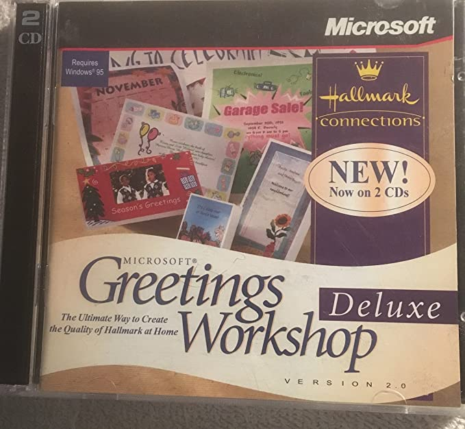 Amazon greetings workshop deluxe version 20 hallmark greetings workshop deluxe version 20 hallmark connections 2 disc set m4hsunfo