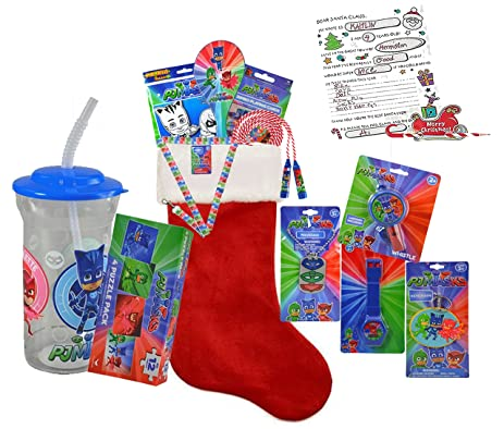 pj masks kids all inclusive 12pc pre filled christmas stocking plus bonus - Pre Filled Christmas Stockings