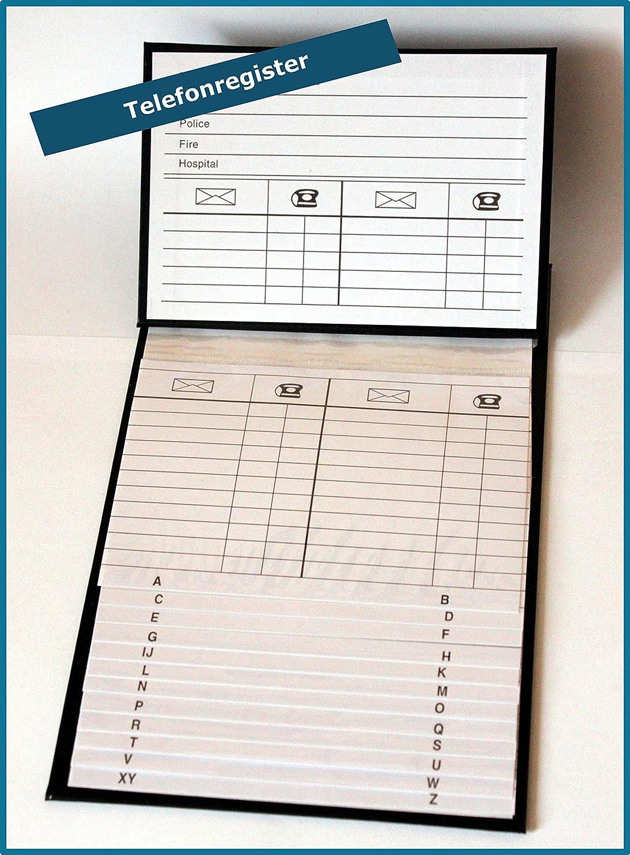 Telefonregister Telefonbuch Adressbuch Adressregister Register Ringbuch Büro 759