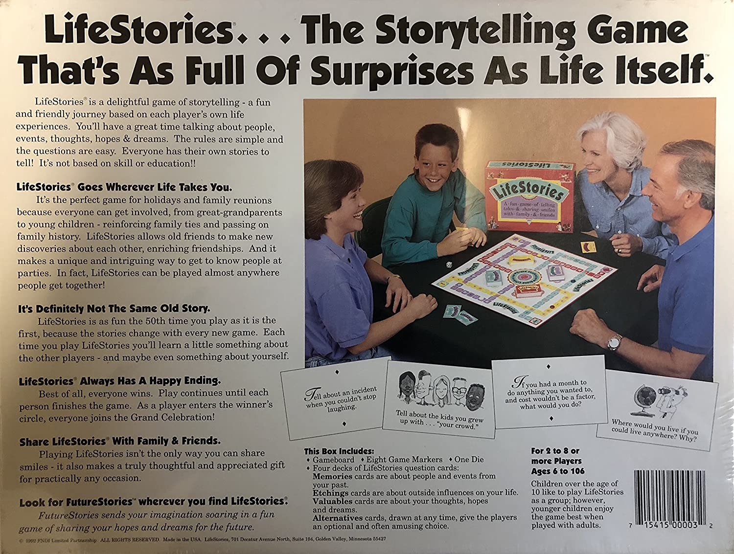 amazon com lifestories a fun game of telling tales sharing