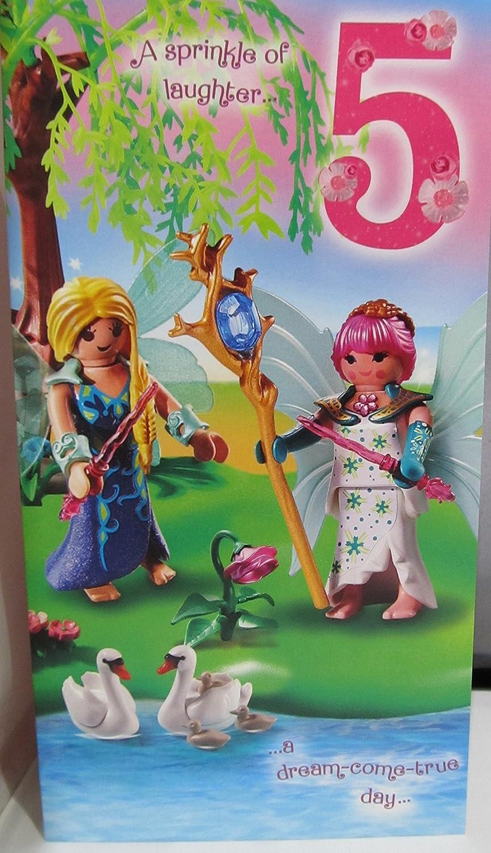 Hallmark Playmobil Edad Tarjeta de cumpleaños 5: Amazon.es ...