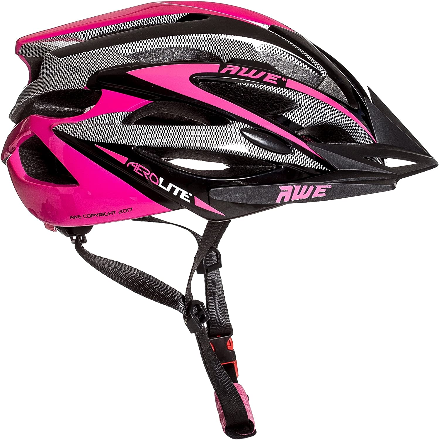 AWE Aerolite Women s Pink Lady Bicycle Helmet – White Pink, Size 56-58