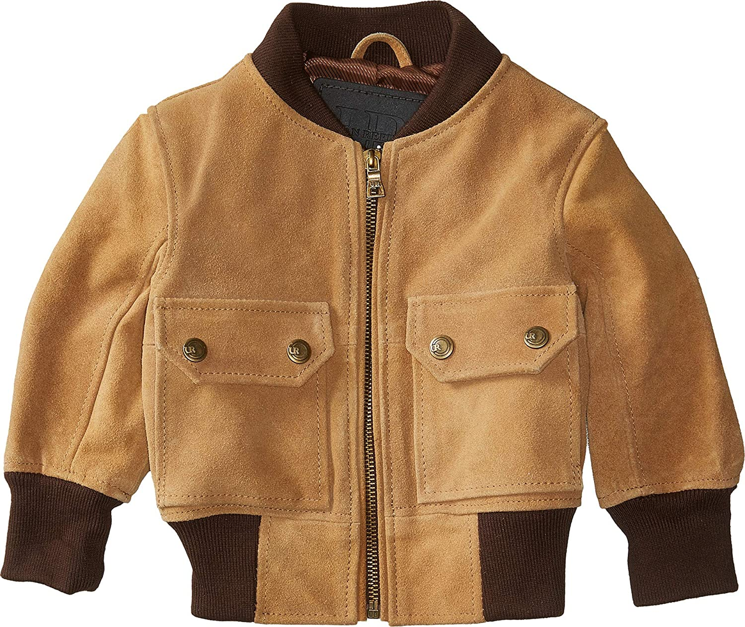 Infant//Toddler Urban Republic Kids Baby Boys Cow Suede Leather Jacket