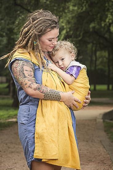 5c6e4704ef7 Amazon.com   Bibetts Pure Linen Ring Sling Baby Carrier - CPSIA compliant -  Infant