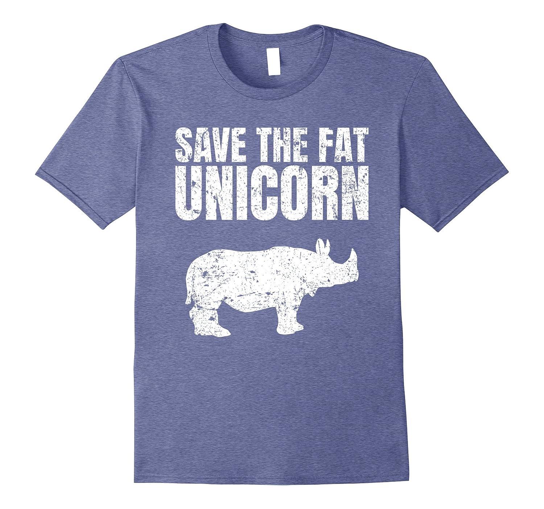 ece59e7a Premium Save The Fat Unicorn Funny Rhino T-Shirt – Hntee.com