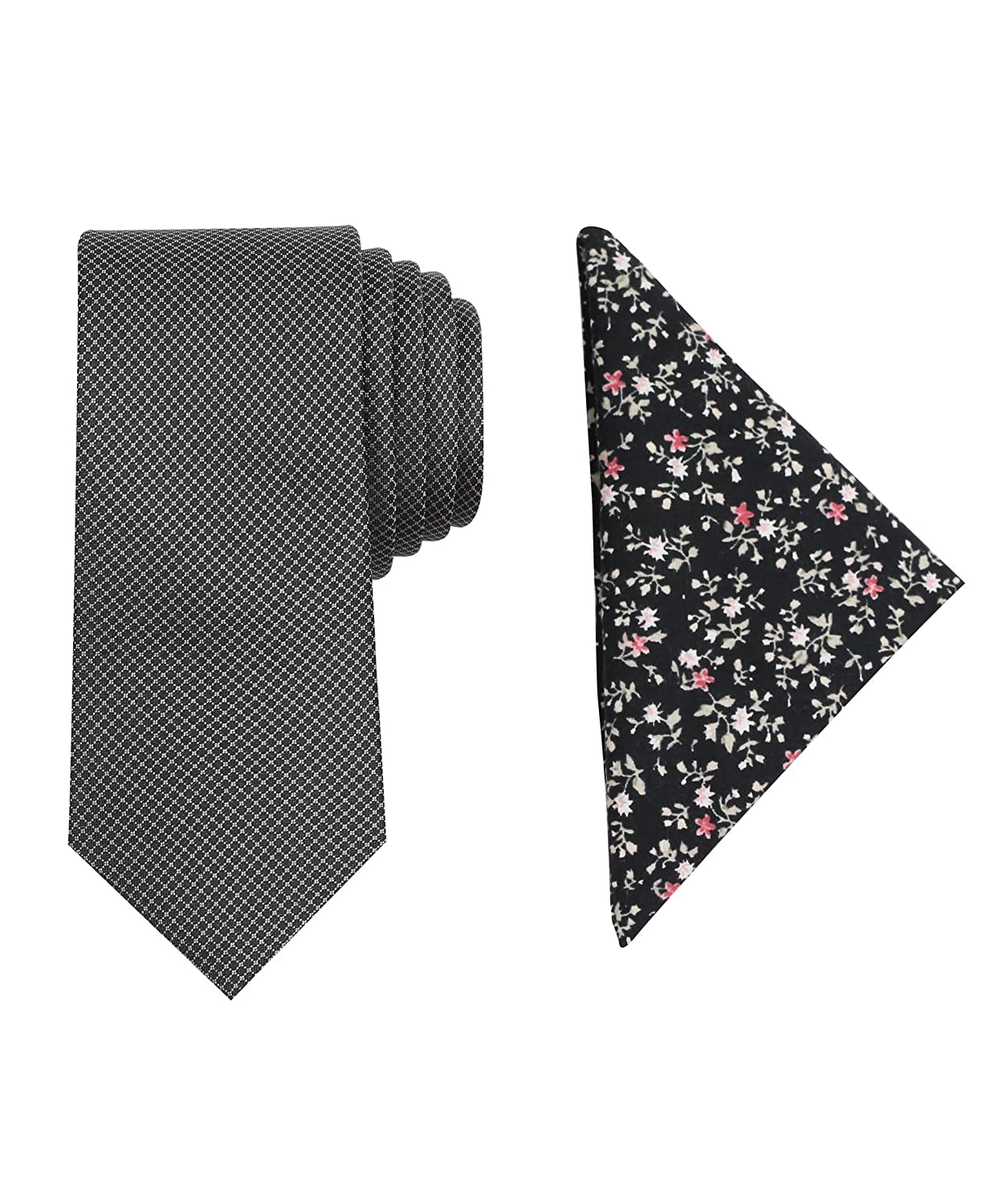 Tallia Mens Tie and Pocket Square Set pink One Size 2TC7-2010 Y87DI