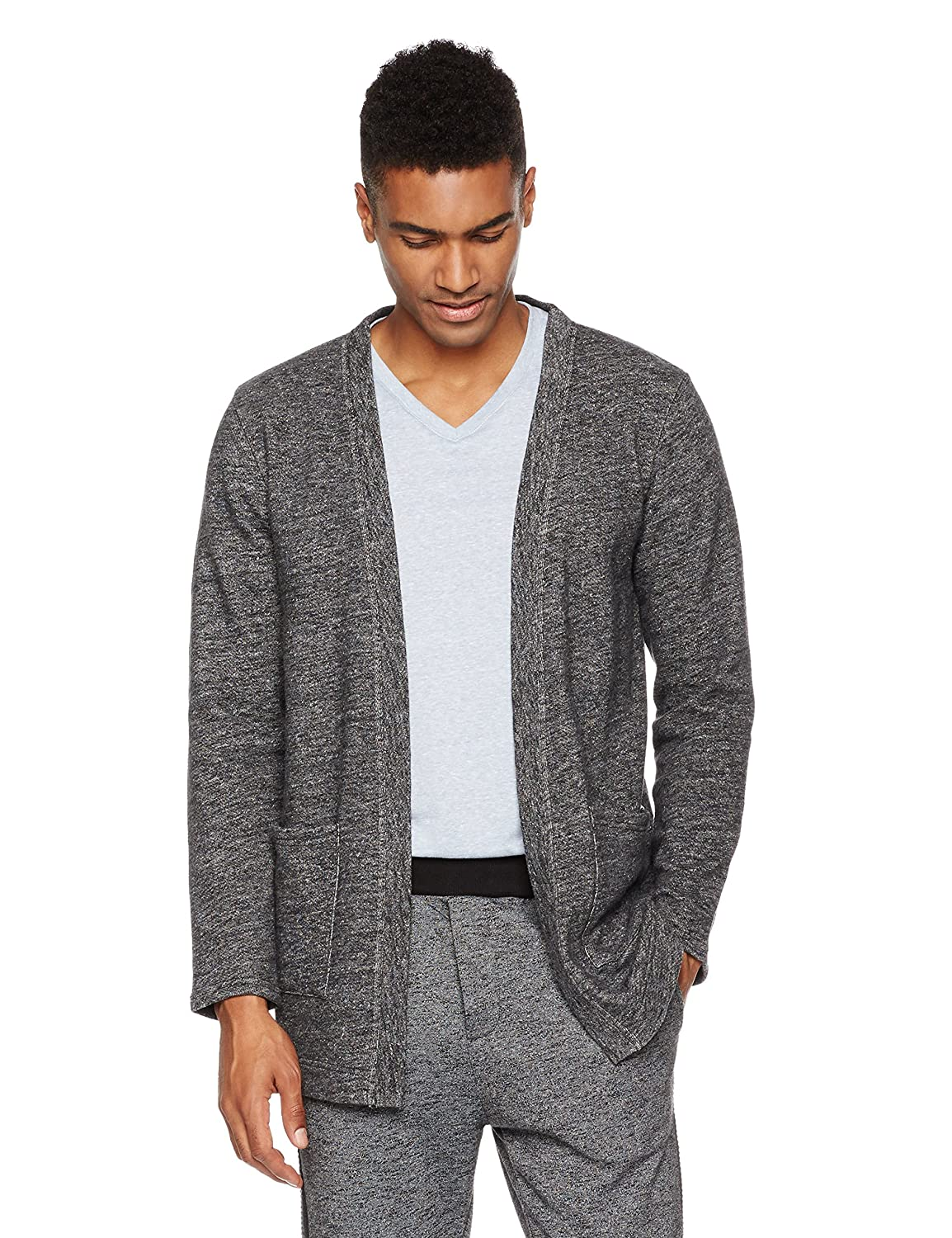 Rebel Canyon Young Men's Open Front Longline Cotton Sweatshirt Cardigan by Rebel+Canyon