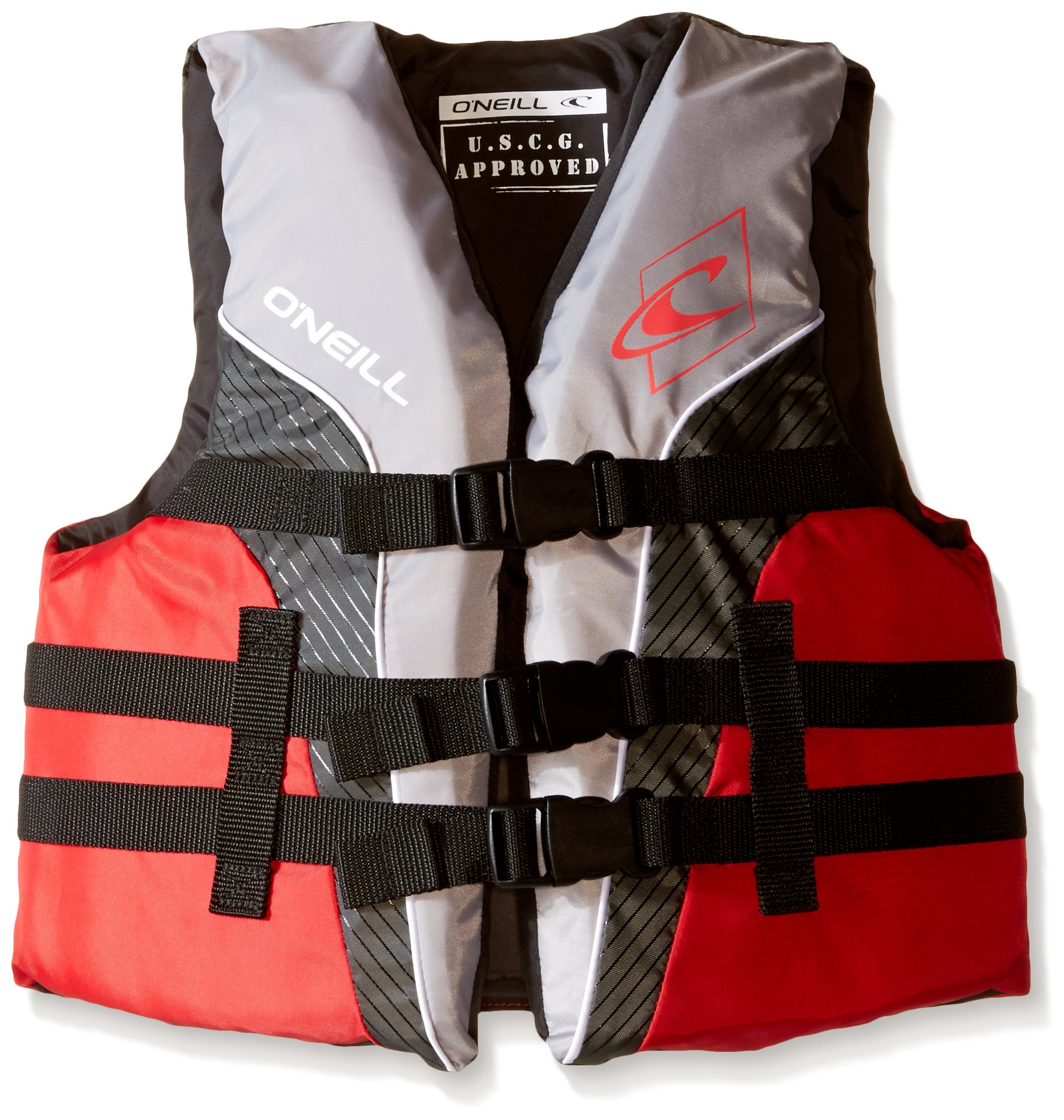 O'Neill   Youth SuperLite USCG Life Vest,Smoke/Graphite/Red/White,50-90 lbs