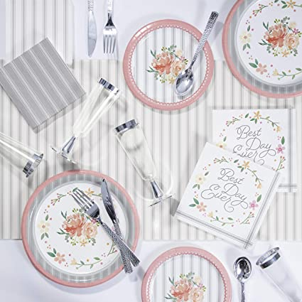 Farmhouse Floral Best Day Ever Lunch Napkins 16 Pack Wedding Bridal Decorations