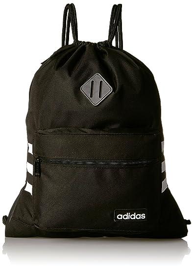 5143e4c1b0 Amazon.com: adidas Classic 3S Sackpack, Black, One Size: Clothing