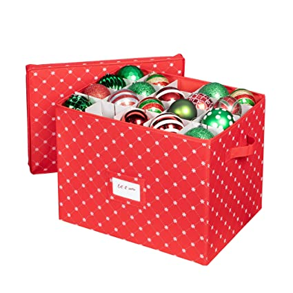 Christmas Ornament Storage Box with Lid - Store up to 80 Christmas Ornaments  and Holiday Ornament - Amazon.com: Christmas Ornament Storage Box With Lid - Store Up To 80