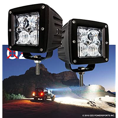 OZ-USA4D POD Combo LED Lights Fog ATV Offroad 3 x 4 Race Beam Truck Motorcycle Cube: Automotive