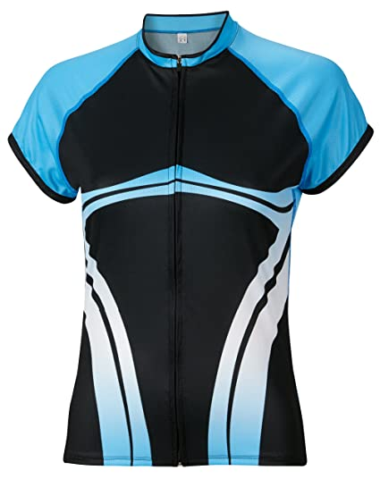 Amazon.com   BDI Cycling Apparel Elitta Women s E-Full Zip Wave ... e2841ec60
