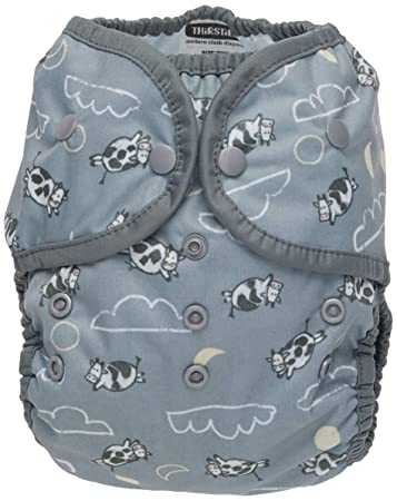 Thirsties Reusable Cloth Diaper One Size Pocket Diaper Snap Closure Over The Moon