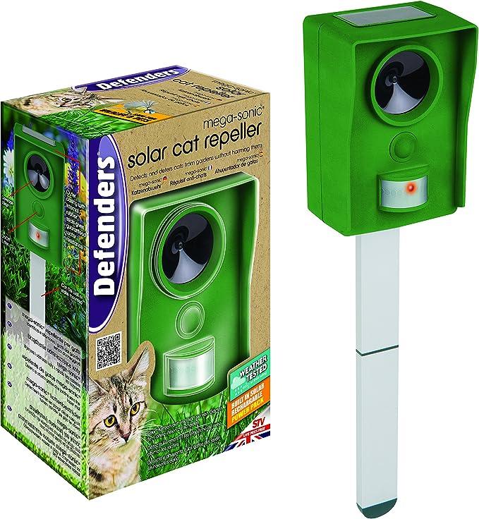 STV International Mega Repelente Solar para Gatos Sonic, Verde, 6.8 x 8.8 x 13 cm: Amazon.es: Jardín