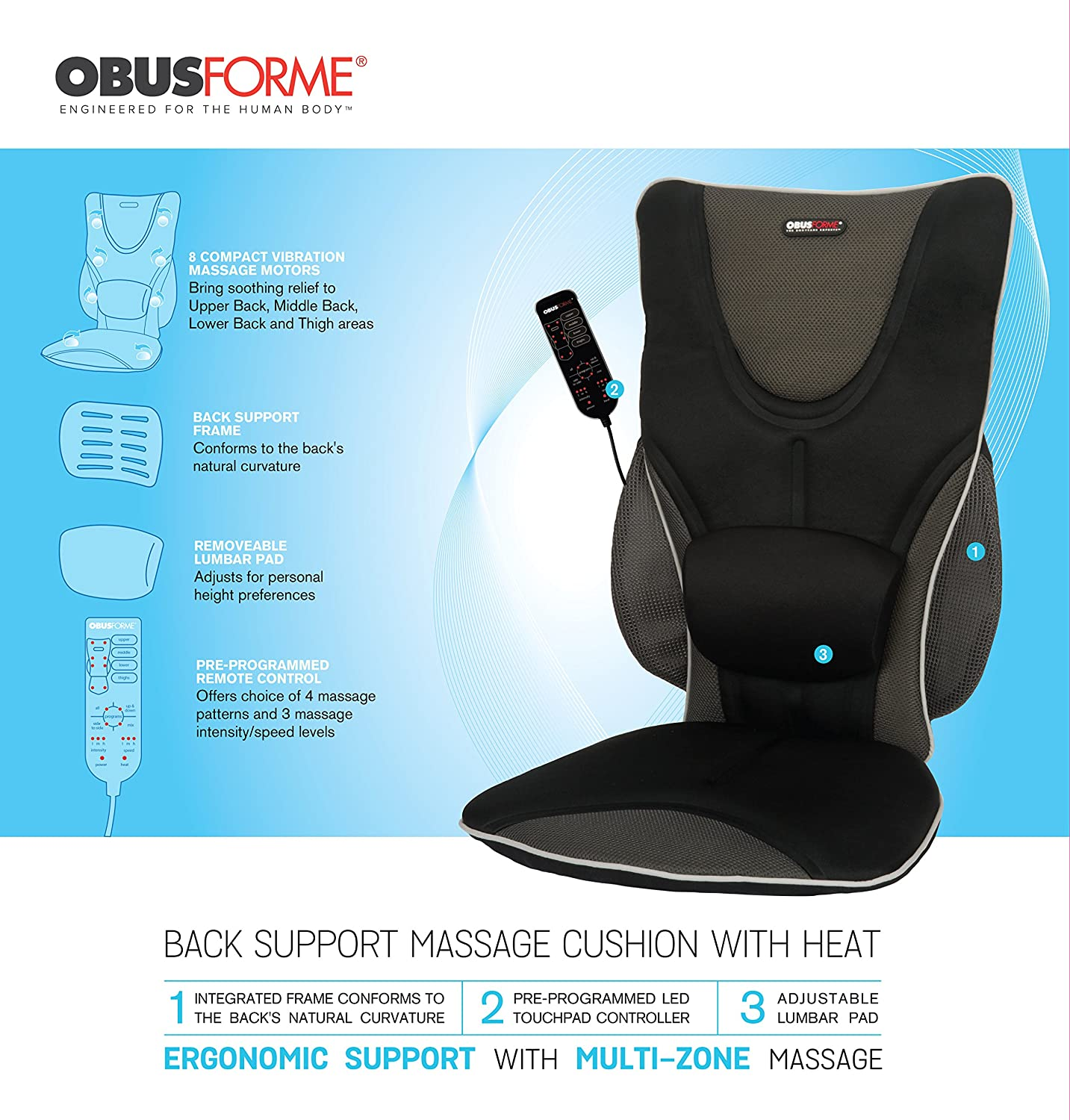 amazon com massaging drivers seat with heat health personal care