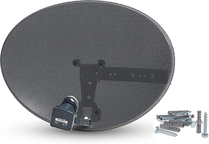Systemsat Zona 1 antena parabólica y Quad Lnb para Sky ...