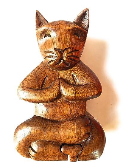 Amazon.com: Caja de madera de color morado para meditar ...