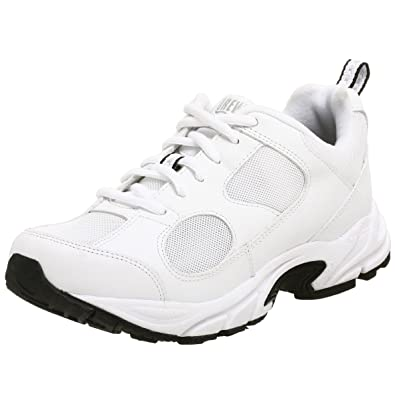 Drew Shoes Women's Flash Athletic Walker,White/White,5.5 WW US