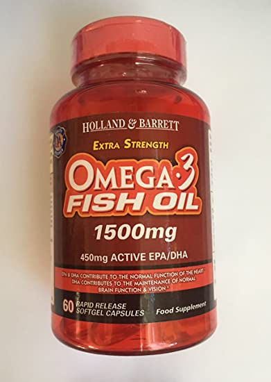 Amazon com: Holland & Barrett Extra Strength OMEGA 3 Fish