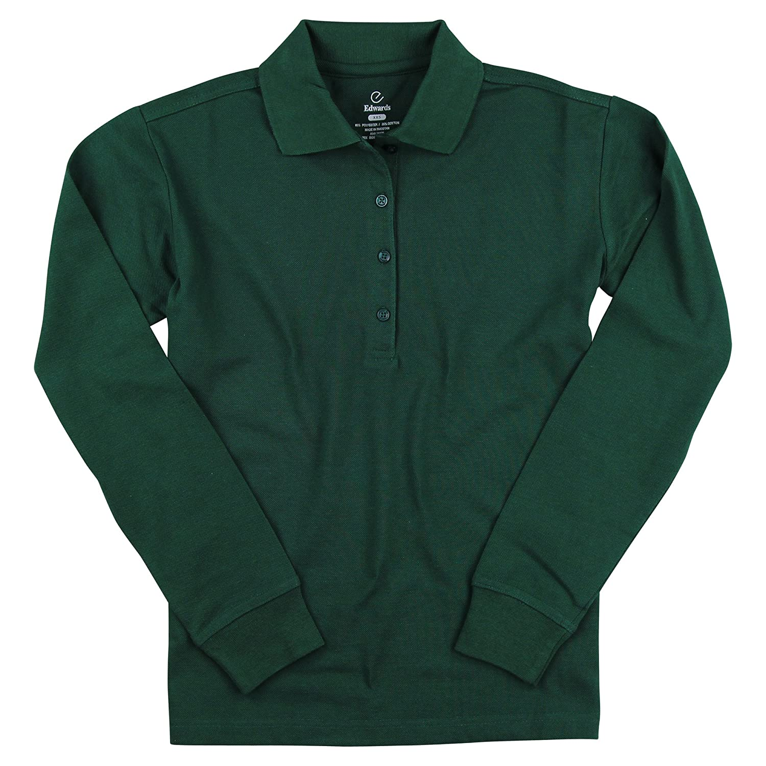 Women's Long Sleeve Poly/Cotton Pique Polo Shirt