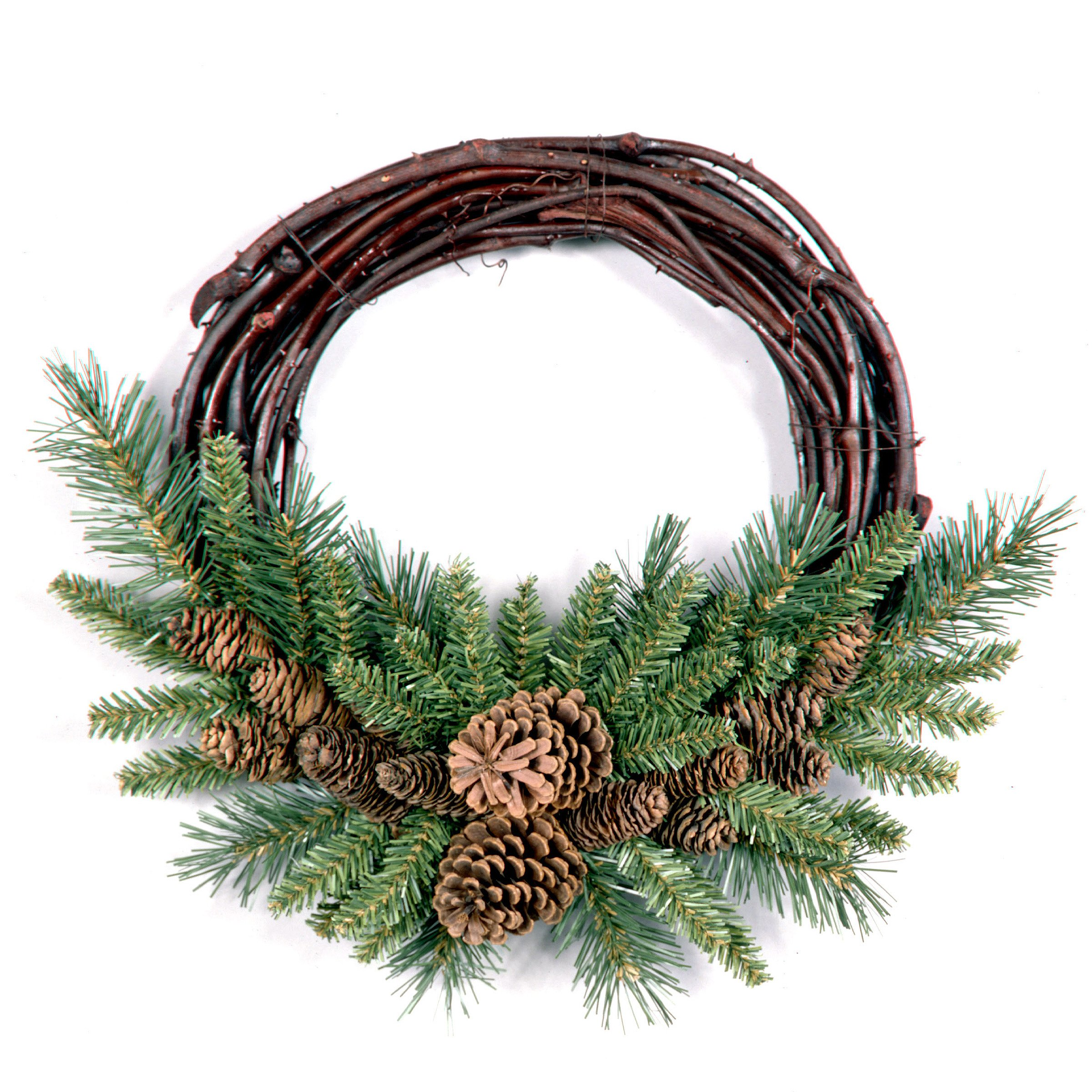 National Tree 16 Inch Pine Cone Grapevine Wreath (PC-16GV)