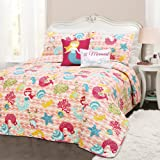 Lush Decor 4 Piece Mermaid Waves 4Piece Quilt