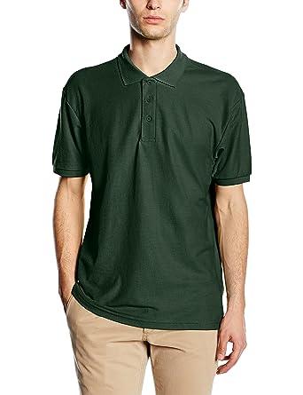 Fruit of the Loom Men's 65/35 Polo Shirt, Bottle Green, Small