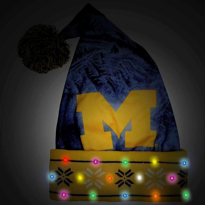 NCAA Light Up Santa Hat