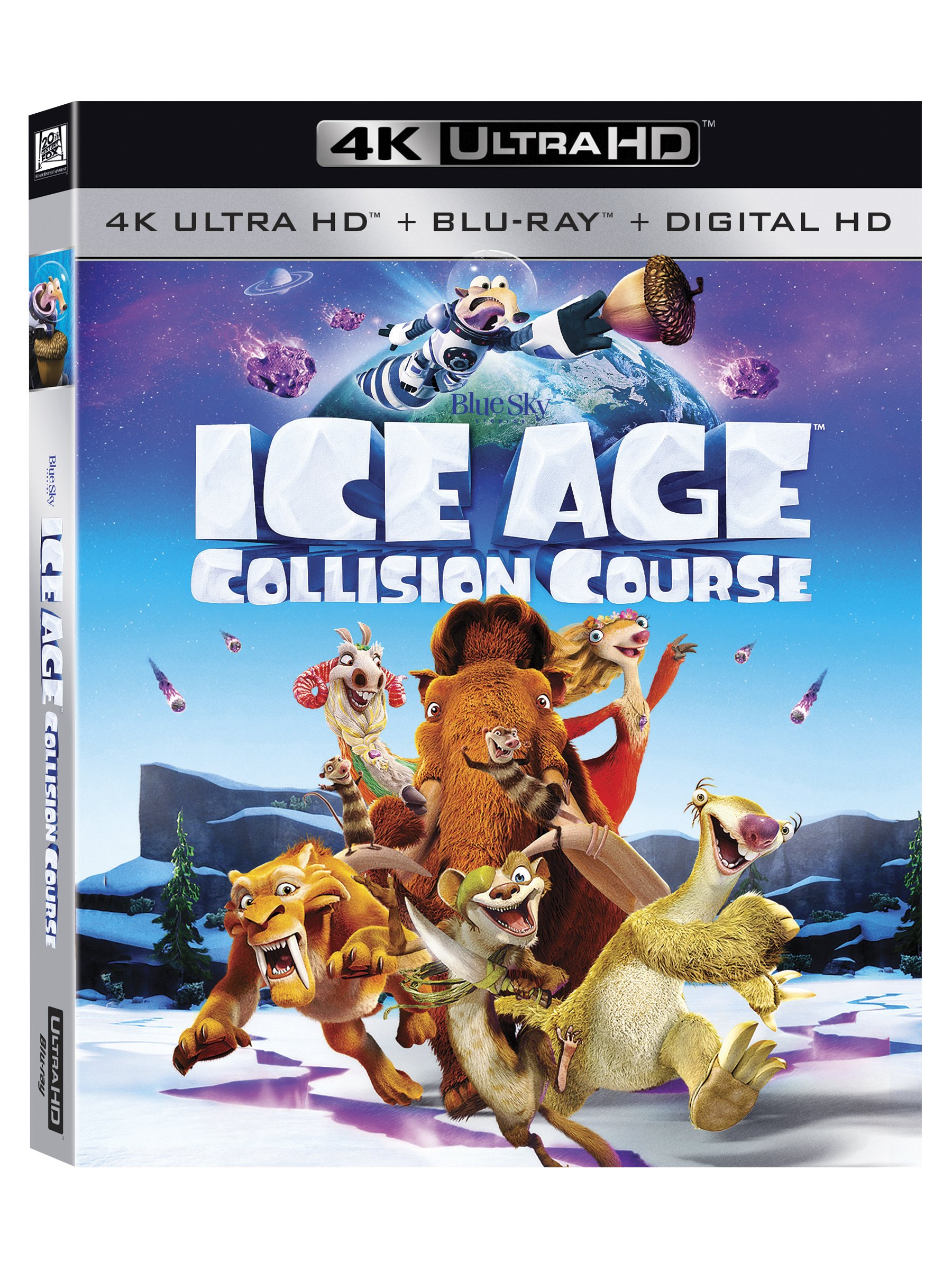 4K Blu-ray : Ice Age: Collision Course (With Blu-Ray, 4K Mastering, Digitally Mastered in HD, 2 Disc)