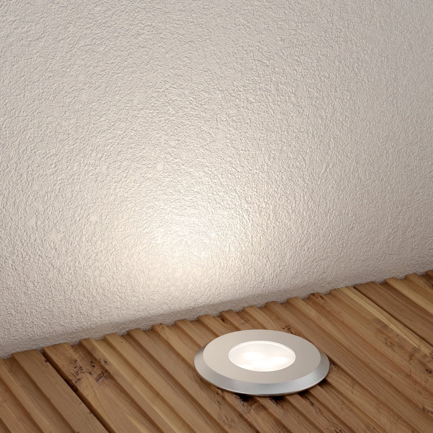 Parlat LED Recessed Ground Light AGENA For Outdoor, Warm White, 7lm, IP65, 230V, 60mm Ø, 10 Pcs 1 light