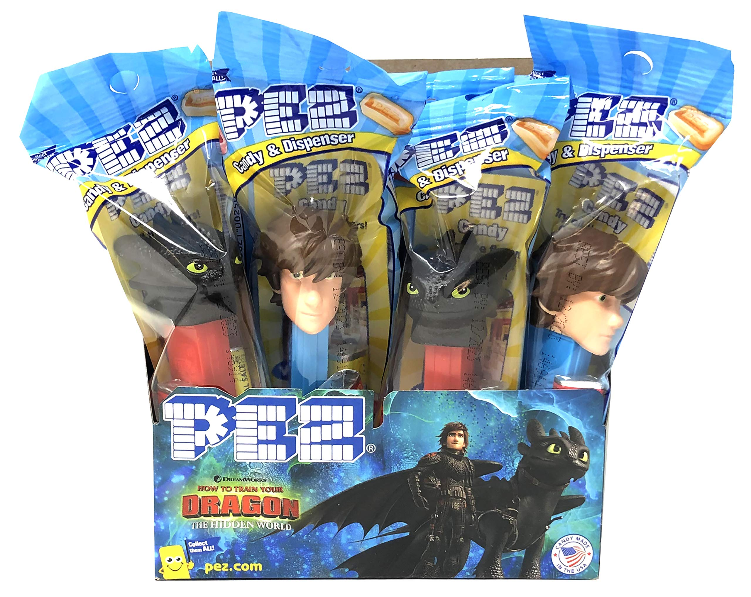 Pez How to Train Your Dragon Candy Dispensers Individually Wrapped Candy and Dispensers with Tru Inertia Kazoo (12 Pack)