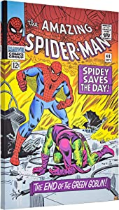 "Officially Licensed Marvel Comics Amazing Spider-Man #40 Vintage Comic Book Cover Wrapped Canvas Wall Art (36"" H x 24"" L)"