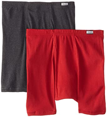 b6260d633e69 Hanes Men's 2-Pack Assorted Comfortsoft Boxer Briefs at Amazon Men's  Clothing store:
