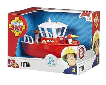 Sam le pompier titan bateau avec lance à incendie amazon
