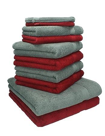 Weiche Handtücher Ohne Weichspüler betz 10 tlg handtücher set 100 baumwolle 2 duschhandtücher 4
