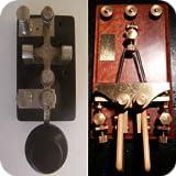2 Amateur Ham Radio CW Morse Code Practice Keys - straight key and iambic key