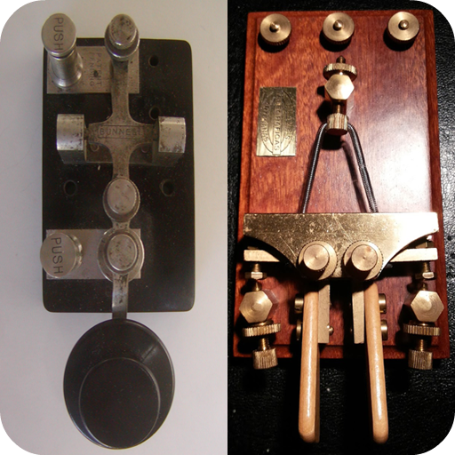2 Amateur Ham Radio CW Morse Code Practice Keys - straight key and iambic key Telegraph Key