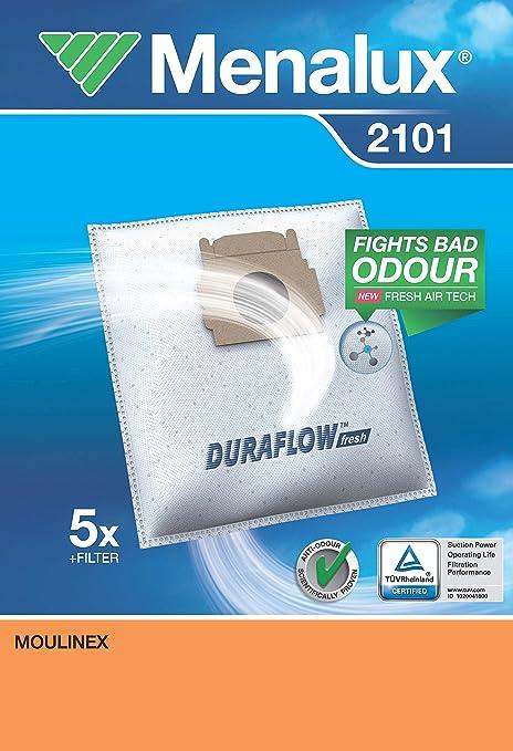 Menalux 2100 Duraflow - Bolsas para aspiradoras Moulinex y ...