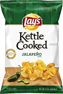 product image for Lay's Kettle Cooked Jalapeño Flavored Potato Chips, 8 Ounce