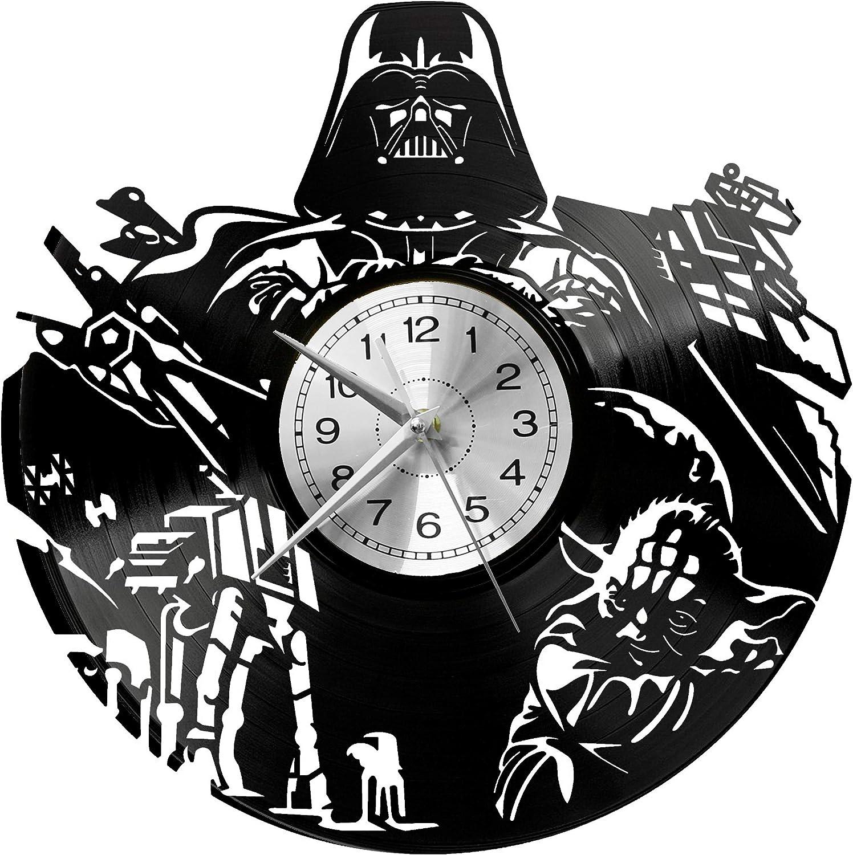 EVEVO Reloj de Pared de Star Wars, Reloj de Vinilo de Star Wars ...
