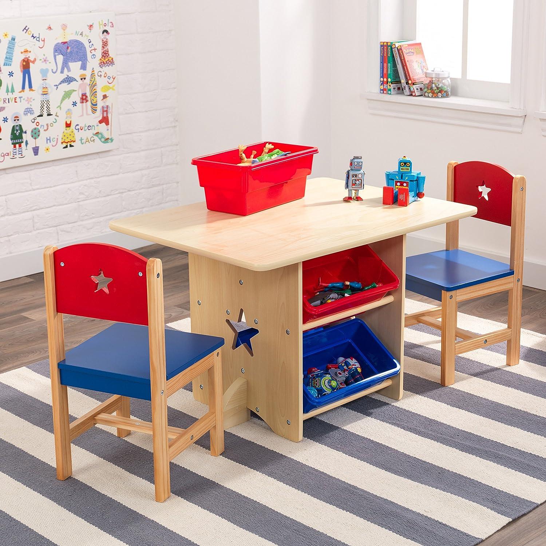 KidKraft 26912 Stern Tisch mit 2 Stühlen aus Holz für Kinder rot ...