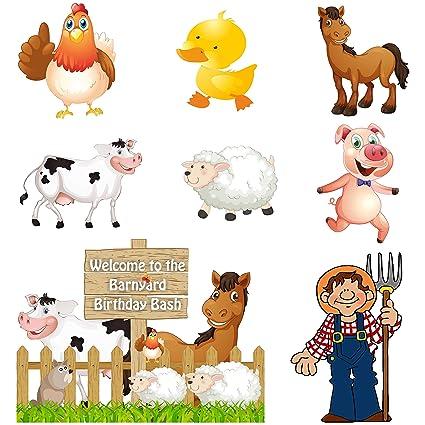 untumble farm animals barnyard theme wall cutouts amazon in toys