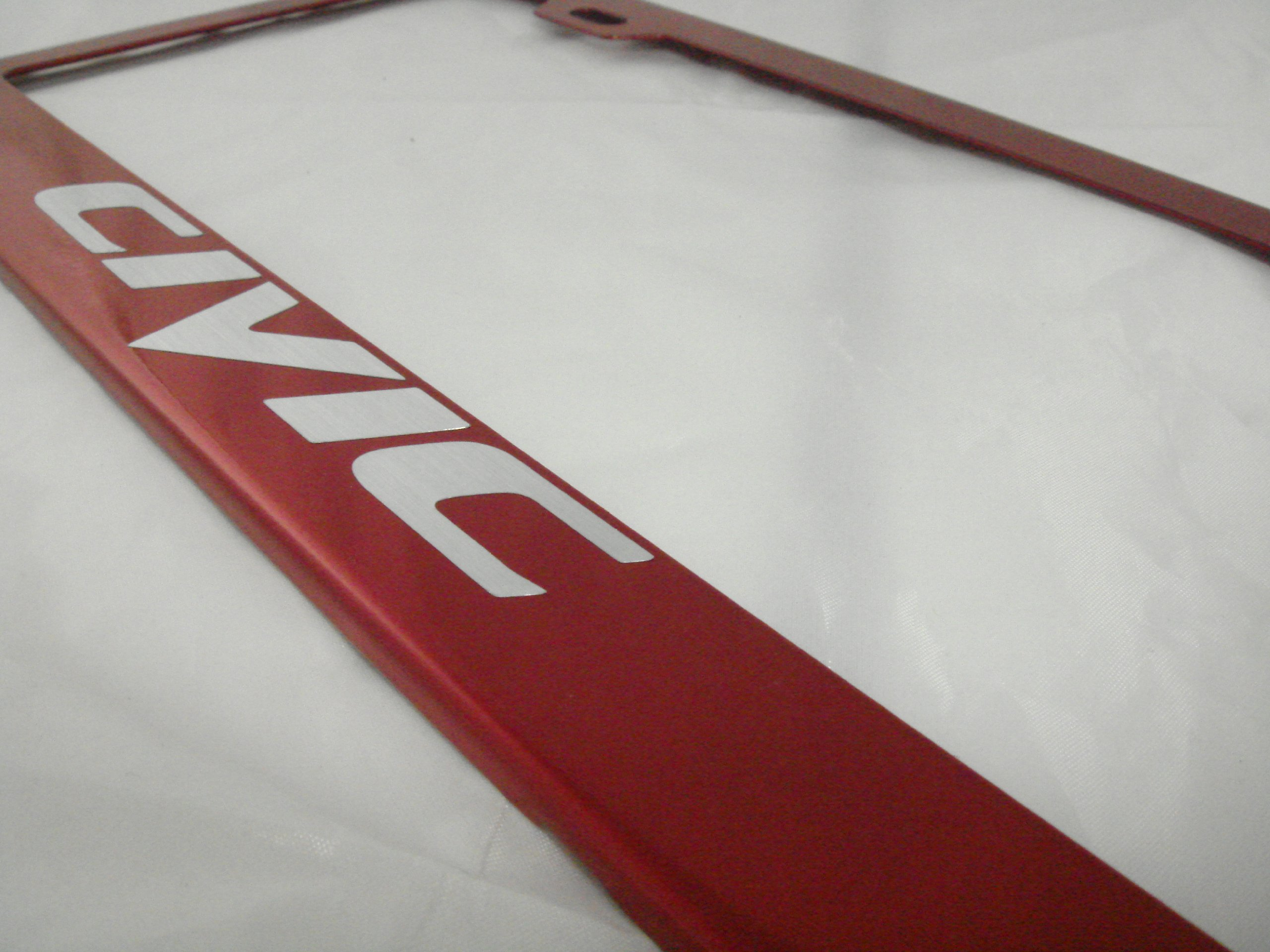 Honda Civic Mirror Red License Plate Frame < Frames < Automotive - TIBS