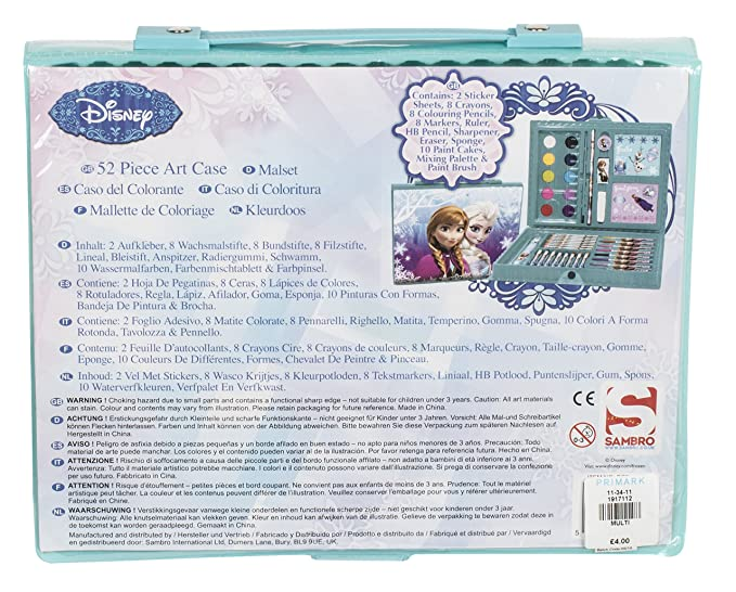 Sambro DFR-4011 Frozen Art Case Set (52-Piece): Amazon.co.uk: Toys ...