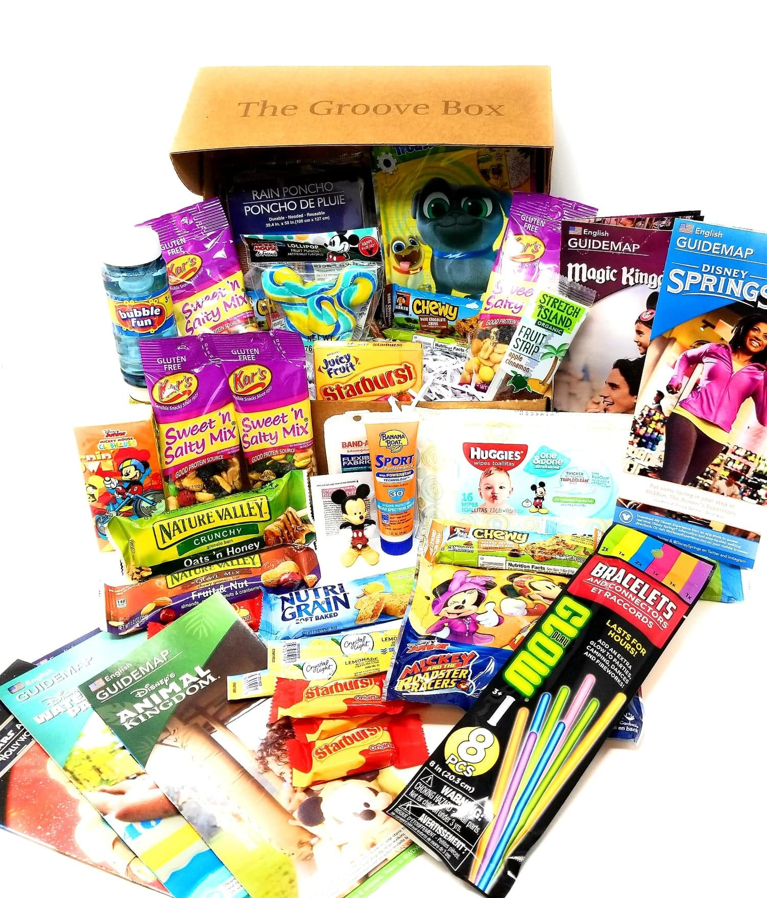 The Disney Theme Park Groove Box - Essential Park Disney Maps, Snacks & Necessities Perfect for your Disney World Vacation