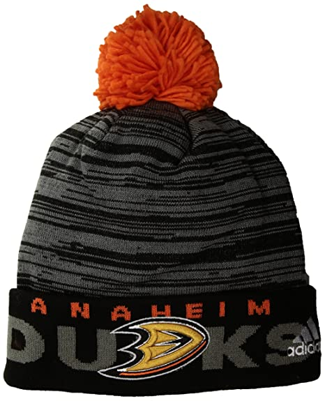 136d2c15ad1 ... low price adidas nhl anaheim ducks adult men pro authentic cuffed pom  knit one size black