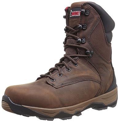 67afb8efbf7 Rocky Men's 8 Inch Retraction Steel Toe Work Boot